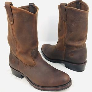New Double H HH Brown Leather Boots 10.5 B 2522